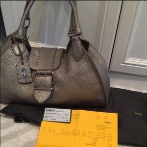 💯Authentic Fendi Leather Selleria Bag